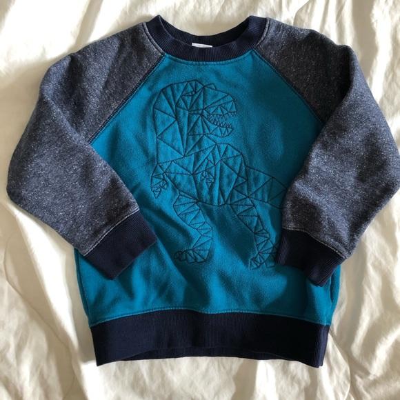 NWT Gymboree Soft Dinosaur T-Rex Pullover Sweatshirt Activewear NEW Boys L 10 12